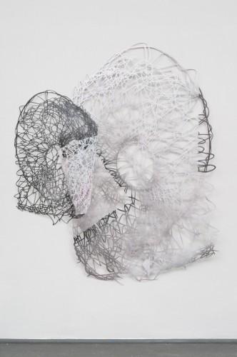 Basch gabriele  zwei, 2015, Lack auf Papierschnitt, 180 x 160